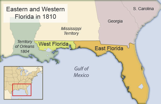 The Spanish colonies of West and East Florida