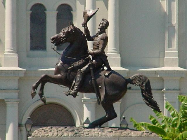 Statue of General Andrew Jackson in New Orleans