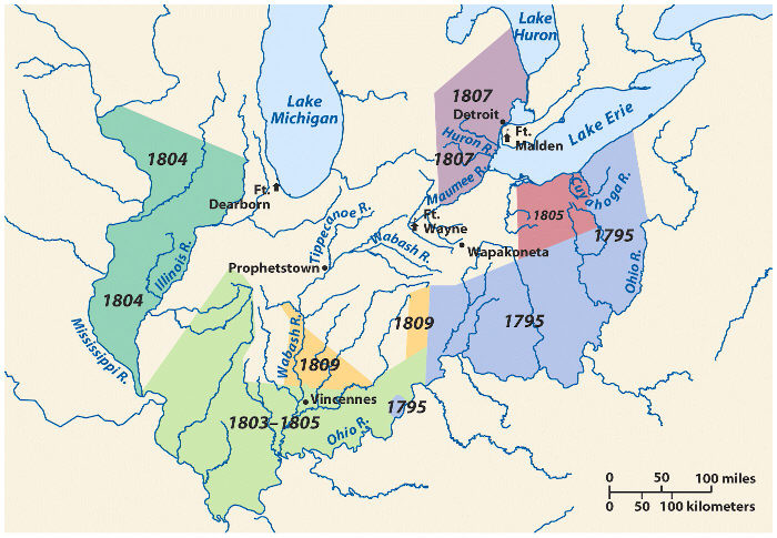 Treaties of land cession in the Old Northwest Territory