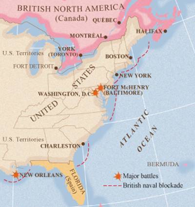 The British gradually extended their blockade to all U.S. ports