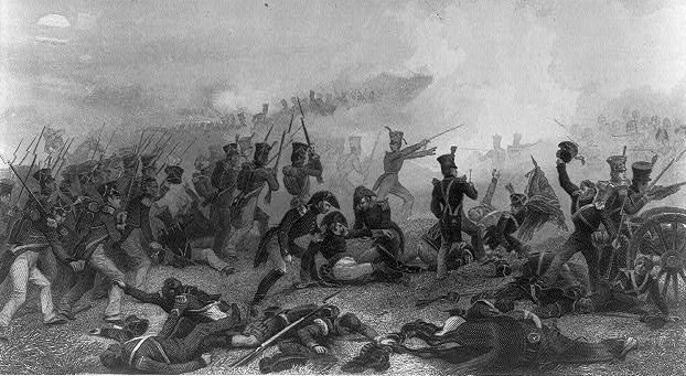 Battle scene at Lundy's Lane, Ontario, near Niagara Falls, July 25th, 1814.