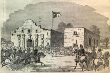 The Alamo mission near San Antonio