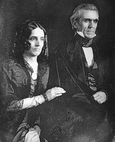 Sarah and James Polk