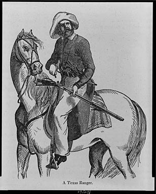 Texas Ranger (wood engraving 1848)