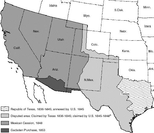 Treaty of Guadalupe Hidalgo Map