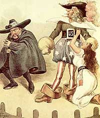 Cartoon published in Puck magazine, June 1896