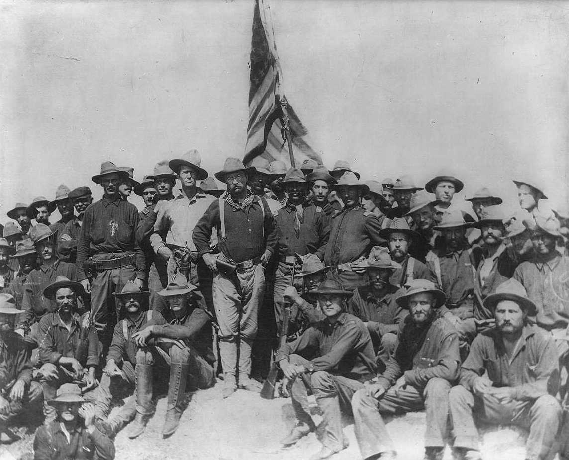 The Cuban presence is absent in this iconic photograph of Roosevelt and the Rough Riders
