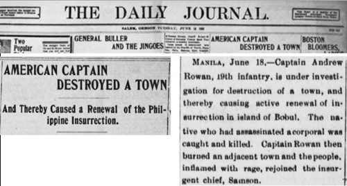 Revenge taken by U.S. troops against towns usually went unreported.
