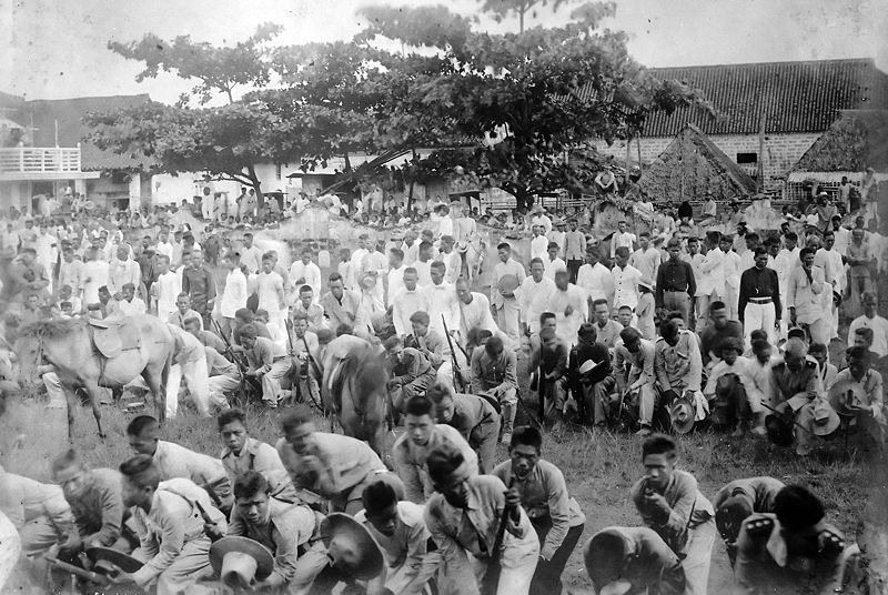 Reconcentration camp in southwester Luzon