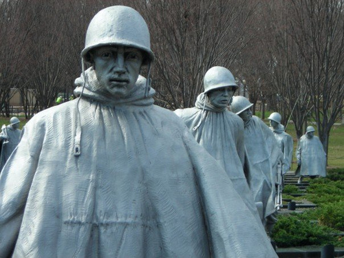 Korean War Memorial in Washington