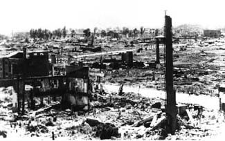 Pyongyang after U.S. bombing, 1953