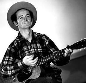 Folk singer Woodie Guthrie