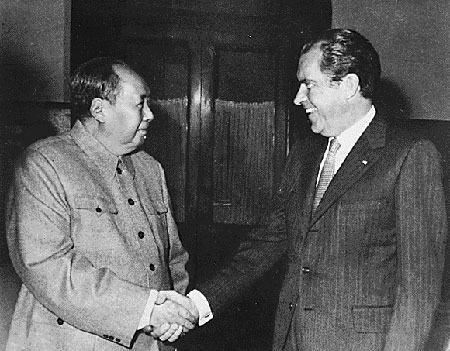 In February 1972, President Richard Nixon and Mao Zedong established a new detente, although China remained communist