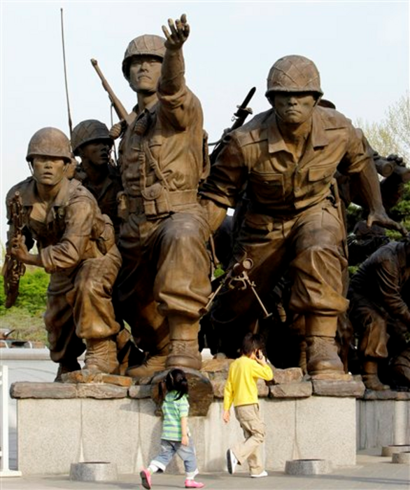Korean War Monument in Seoul