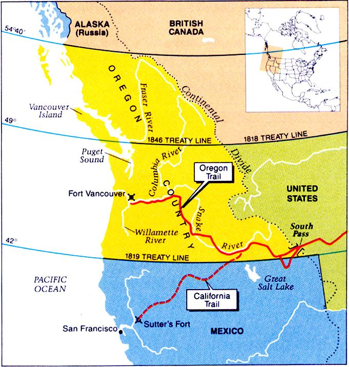 The United StatesMexican War Peace History - Polk us map
